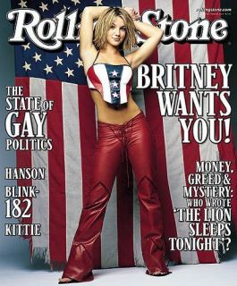 Rolling Stone Cover Britney Spears Refrigerator Magnet