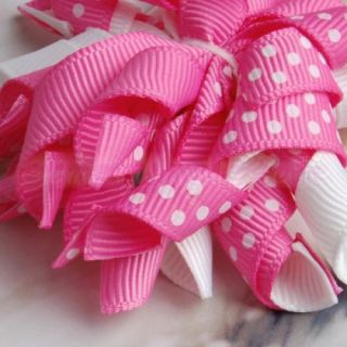 2X Girl Baby Boutique Corker Hair Bows Clip Ribbon New