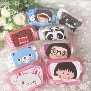 Cute Cartoon Portable Shaped Contact Lenses Case Box
