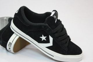 Converse Cons Pro Leather Black Suede Skate Shoe All Star Mens Sizes 5
