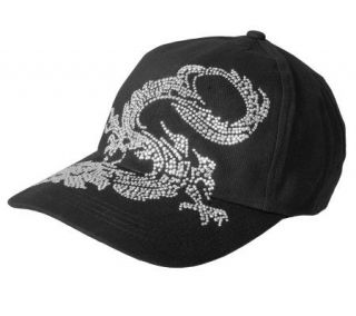 Journee Collection Womens Rhinestone Dragon Baseball Cap —