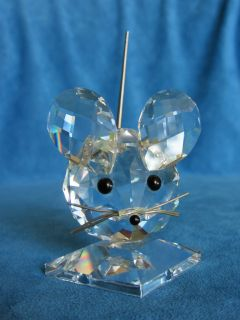 Swarovski Crystal Large Mouse Estate Figurine Figure Old Mark