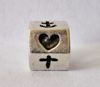 Pandora ALE Sterling Silver Heart Cross Anchor Charm Bead 790119