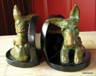 MEISINGER Art Deco SCOTTIE DOG Bookend Goldscheider Scottish Terrier