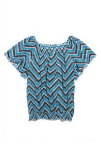 Paper Doll Banded Flutter Sleeve Top (Big Girls)