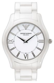 Emporio Armani Large Round Ceramic Watch