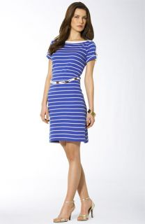 Lauren by Ralph Lauren Estelle Belted Boatneck Dress (Petite)