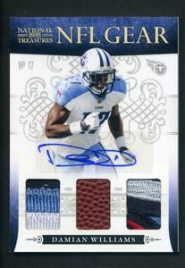 2010 National Treasures Damian Williams NFL Gear Auto