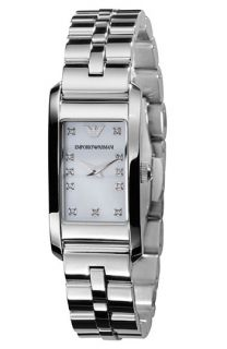 Emporio Armani Diamond Stainless Steel Bracelet Watch
