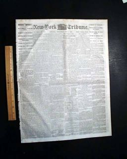 1864 Civil War Newspaper Cynthiana KY Battle of Brices Crossroads