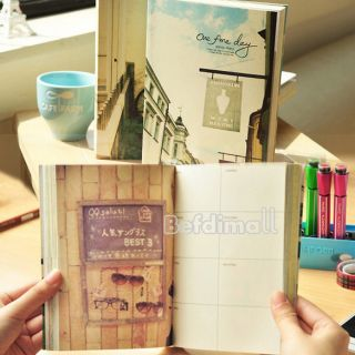 Notebook Story Stationery Cute Journal Daily Planner Diary BE0D