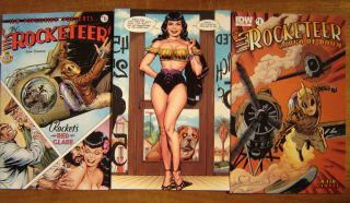3X Rocketeer Cargo of Doom 1 Dave Stevens Sexy Bettie Page A B re