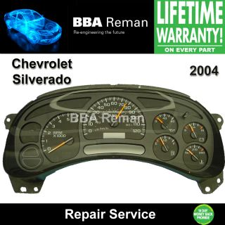 Silverado Instrument Cluster Repair Dash 04 Chevrolet Dashboard