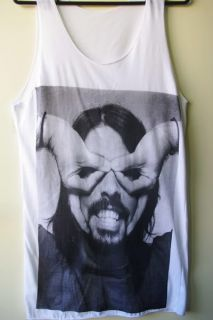 Dave Grohl Foo Fighters Nirvana Grunge Rock Tank Top s M