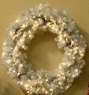 Bethlehem Lights Prelit Indoor Outdoor 30 Wreath Clear