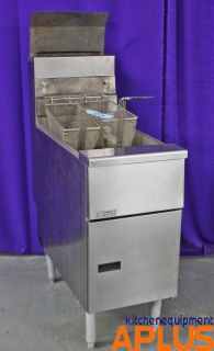 Pitco Gas Deep Fryer 40 50 Lb Heavy Duty Stainless Steel Tank Model