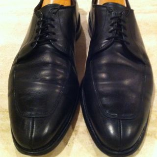 MENS ALLEN EDMONDS DELRAY SPLIT TOE OXFORD SHOES SIZE 12 D BLACK