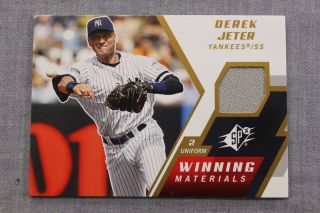 JETER New York YANKEES 2009 UPPER DECK SPX WINNING MATERIALS GU JERSEY