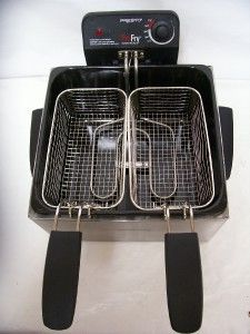 Steel Dual Basket Pro Fry Immersion Element Deep Fryer