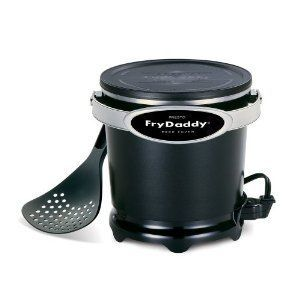 Frydaddy Electric Deep Fryer with Handy Lift and Drain Scoop