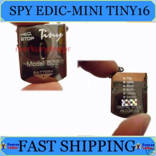 Edic Mini Tiny B22 300hr Spy Voice Recorder USB