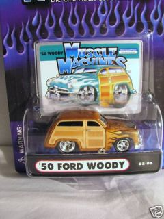 Muscle Machines 50 Ford Woody 1 64 Diecast Car