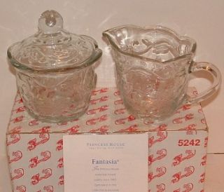 pcs PRINCESS HOUSE Sugar & Cream CRYSTAL FANTASIA PATTERN Made USA