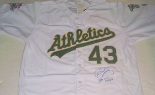 Dennis Eckersley Signed Oakland Athletics 1989 World Series Jersey