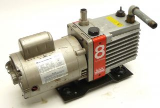 Edwards 8 E2M8 Rotary Vane Dual Stage Mechanical Vacuum Pump 1 2HP