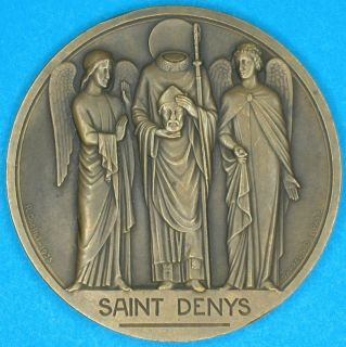 Saint Denys French Art Deco Bronze Medal by Cochet 1935 RARE