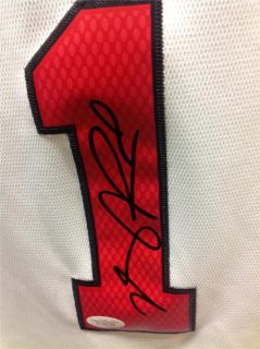 Derrick Rose Signed Chicago Bulls White Jersey JSA COA