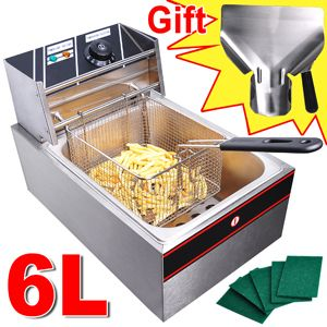 Liter Electric Countertop Deep Fryer Tank Basket Commercial Restaurant