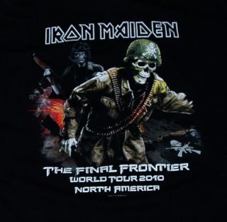 MAIDEN 2010 Concert Tour T Shirt (XL) benjamin breeg judas priest dio