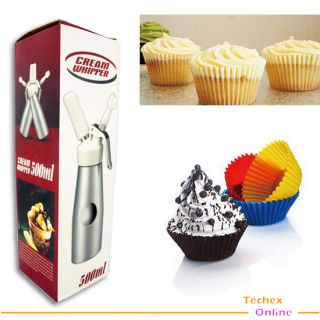 Dessert Fresh Cream Butter Dispenser Whipper Foam Maker Metal