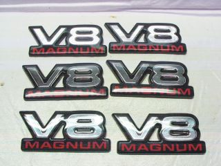 Dodge RAM Dakota Durango V8 Magnum Emblem Emblems Decal