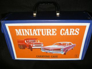 Vintage Mattel 1966 Diecast Car Carrying Case RARE