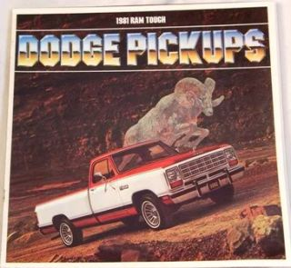 1981 dodge pickup truck original sales brochure 15 page measures 11 by