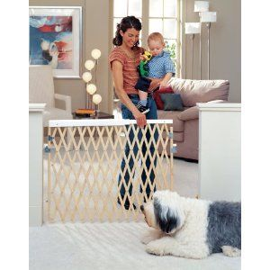 North States Extra Wide Expandable Wooden Dog Gate Pet