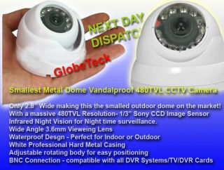 Mini Dome Metal Outdoor Waterproof CCTV Infrared Day Night Camera Sony