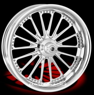 CHROME PERFORMANCE MACHINE DOMINO FRONT WHEEL & TIRE HARLEY FLH FLHR