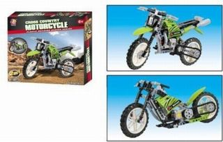 Dirt Bike Motorcycle Construction Toy and Chopper Street Bike set
