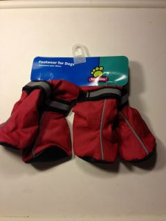 Top Paw Footwear for Dogs Boots Booties Medium Red Velcro NEW