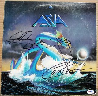 4x signed Self Titled LP Album Cover PSA DNA Howe Welton Palmer Downes