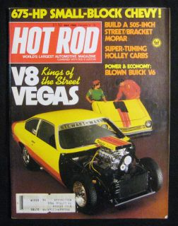 Hot Rod Magazine May 1980 V8 Vegas Kings of The Street
