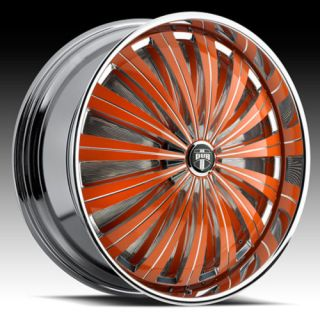 28 Dub Flash Spinner Chrome Wheel Set Custom Colors
