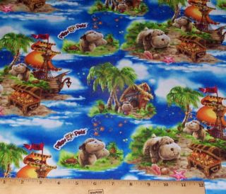 Pillow Pets Puppy Dogs Fabric yds Cotton Print Concepts Treasure