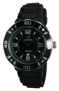 New Adee Kaye Ladies IP Black Dial Date Watch AK5567 L