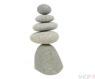 Rock Cairns 5 Natural River Stacking Stone Art Statue Eco Garden