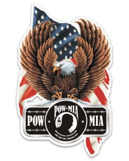 Eagle POW MIA 5 American Flag Vinyl Decal Sticker