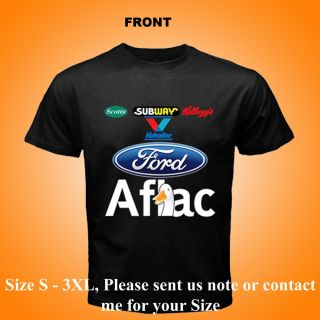 New Carl Ford Edward Racing Aflac Black T Shirt